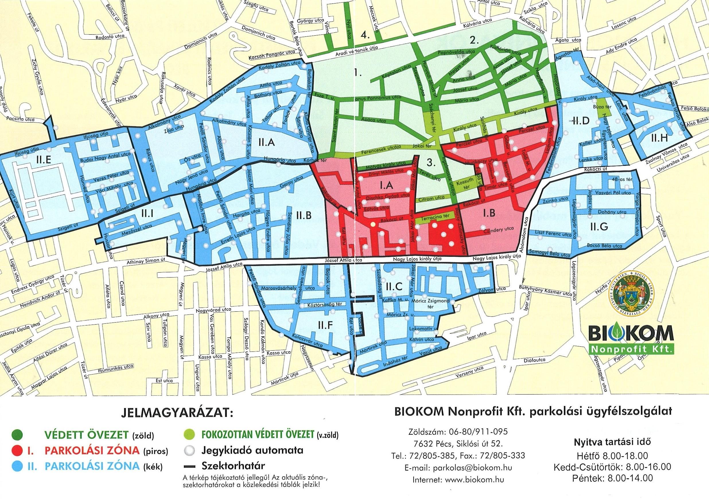 Pécs Belváros Térkép Részletes