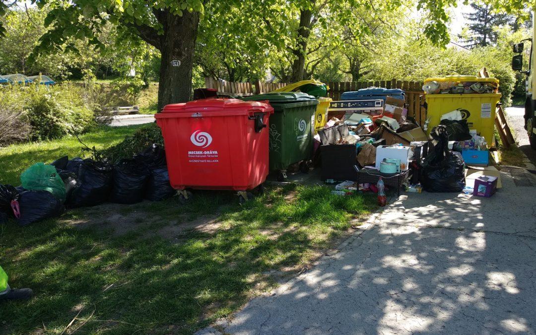 A BIOKOM NKft. és a DÉL-KOM NKft. közleménye a pécsi szelektív hulladékgyűjtő szigetek mellé lerakott illegális hulladékokról
